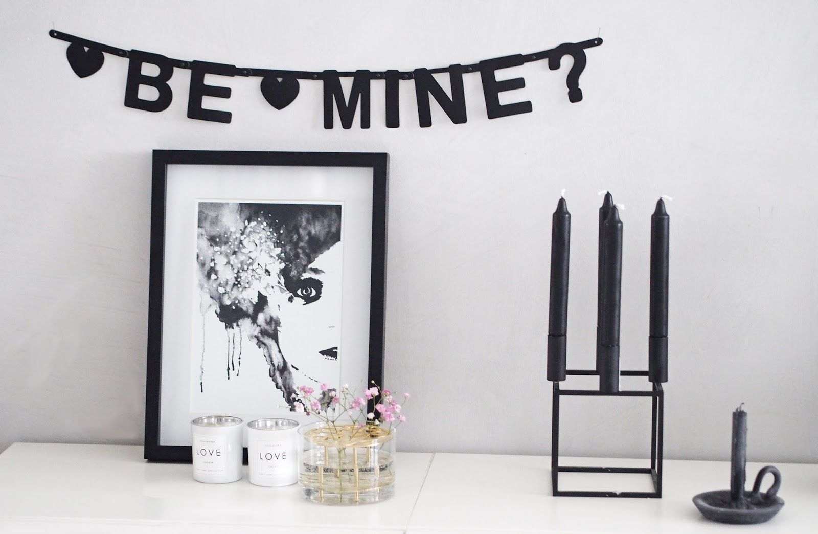 Be mine :) Letter banner