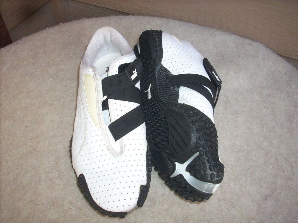 GURUO Puma women shoes 9.5 Sneakers White Leather Velcro #PUMA #Tennis