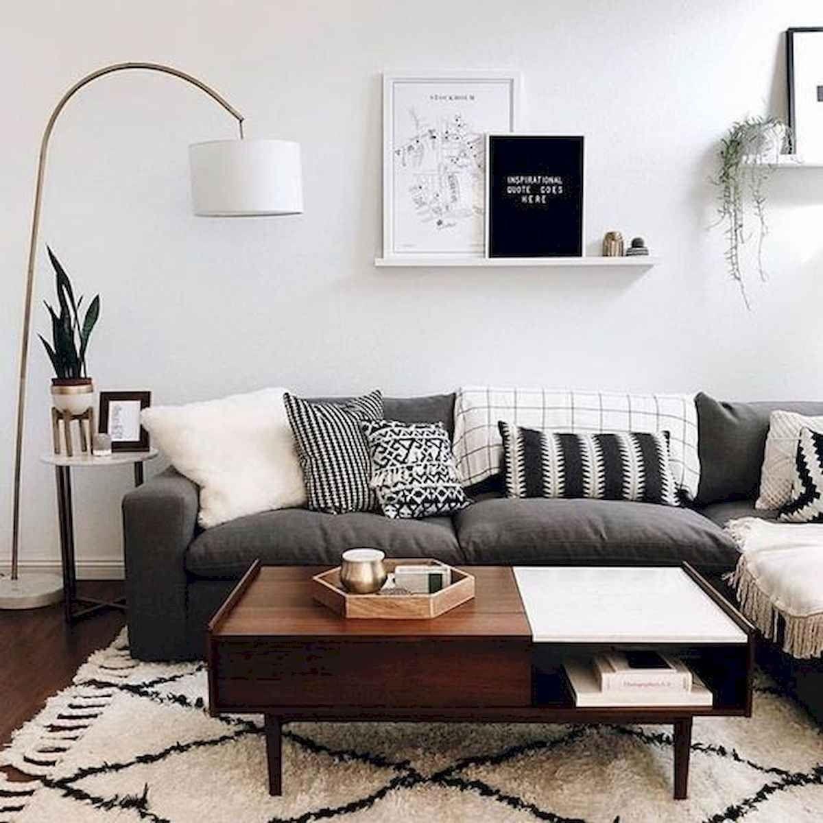 70 stunning grey white black living room decor ideas and