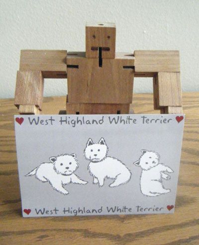 West Highland Terrier Dog Postcard, Westie Love