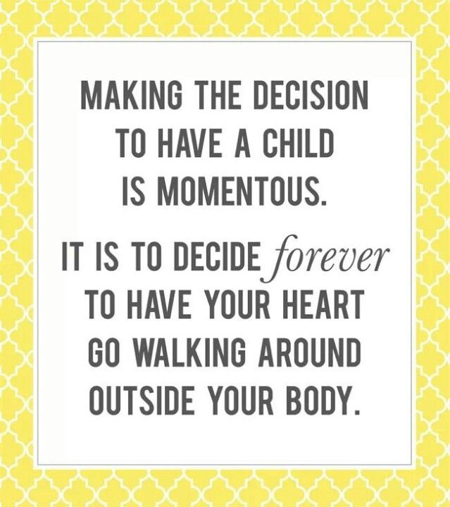 Making the decision to have a child...