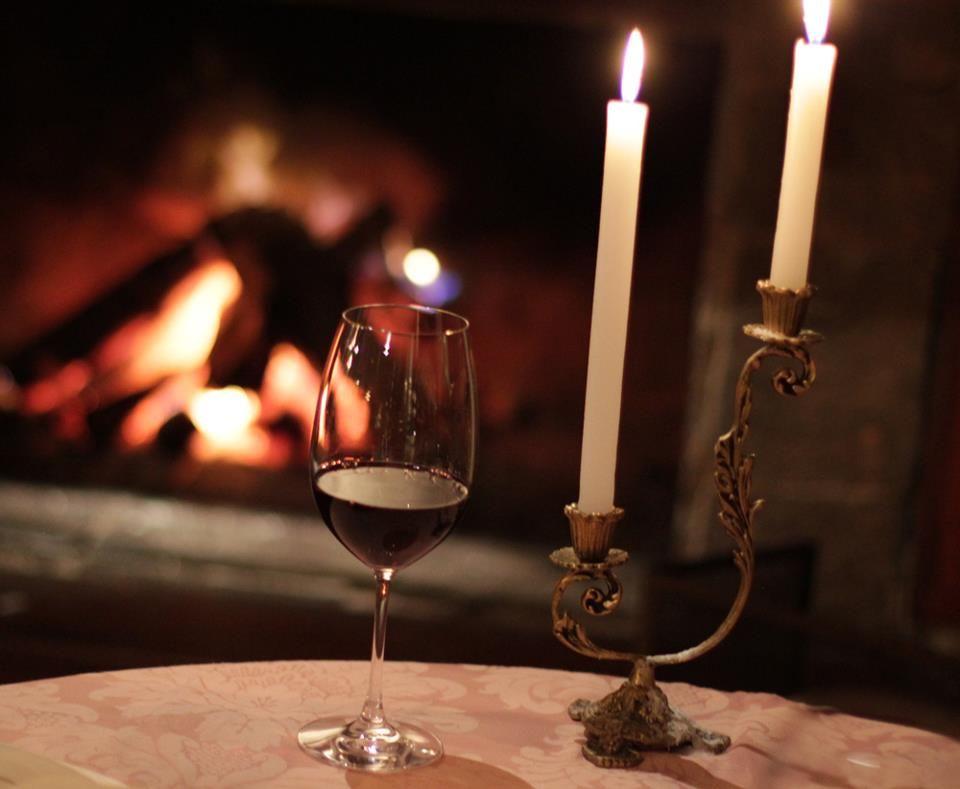 vinho + lareira