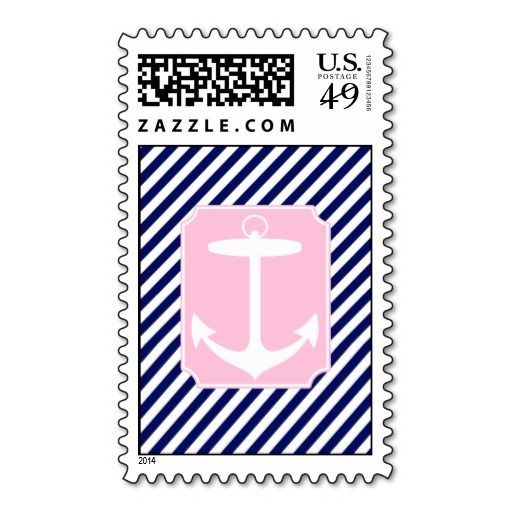 Blue and Pink Anchor Postage | Zazzle com | Design Style