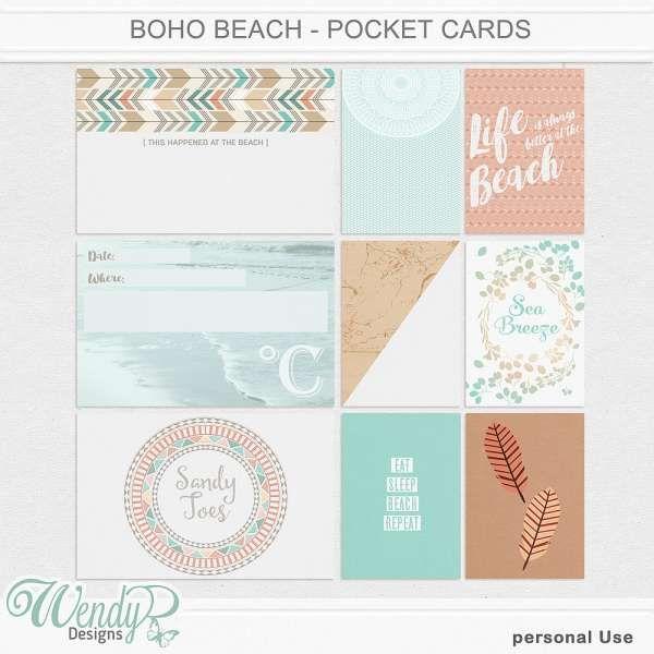 Pocket Scrapping :: Pocket Cards :: Boho Beach - Pocket Cards