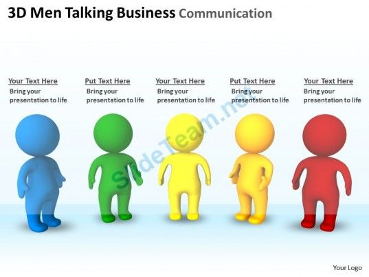 the fuse with our 3D Men Talking Business Communication Ppt