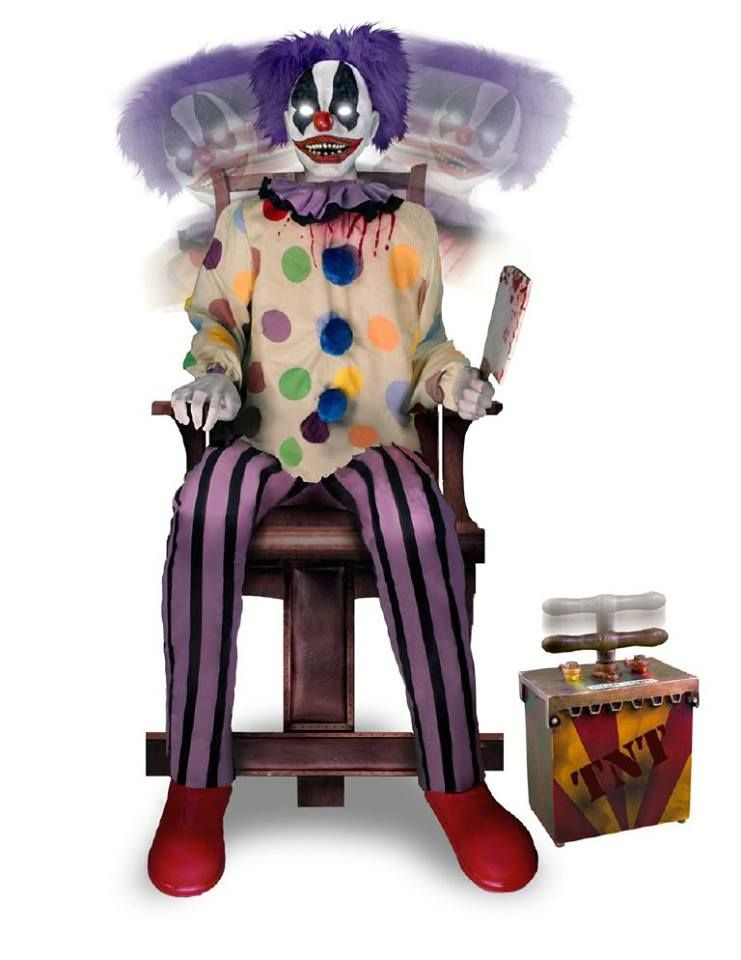 Thrashing Clown $149.99 spirits halloween | Halloween Decorations ...