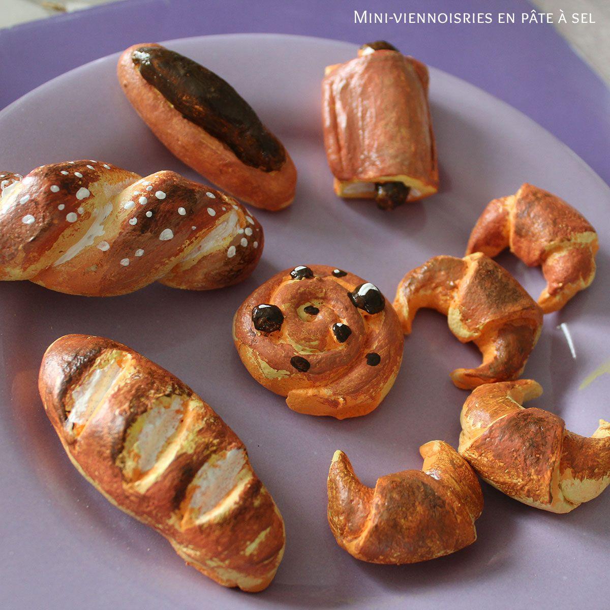 Mini Viennoiseries En Pate A Sel Pour Dinette D Enfants Idee Pate A Sel Dinette Cuisine Pate A Sel