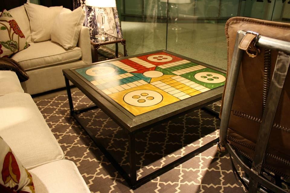 Ludo Coffee Table Andrewmartin Interiordesign Decor Board Game Coffeetable Buttons Table
