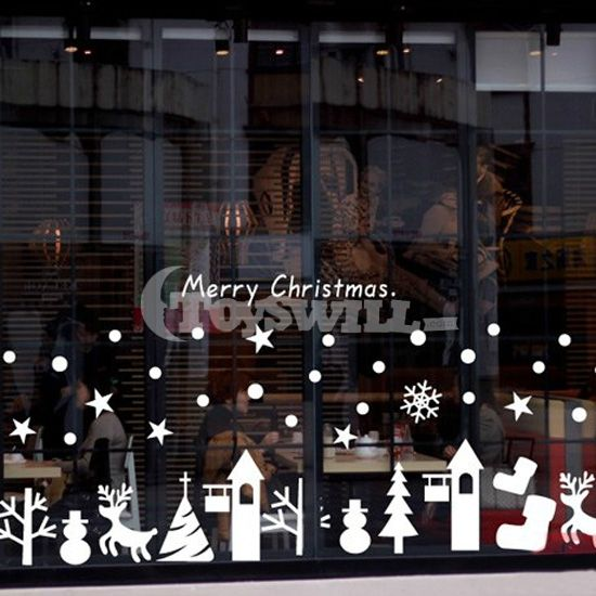 Christmas window sticker decal stickers snowman christmas ornament diy four different stickers jpg 500x696 christmas deco pinterest christmas deco