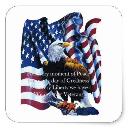 Tribute Veterans Day Stickers Zazzle Com In 2021 American Flag Eagle Eagles Patriotic Images