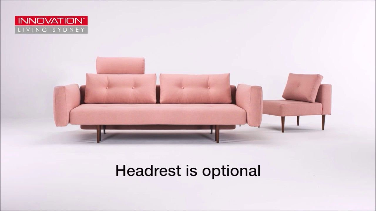 Pink Sofa Sydney Recast Double Sofa Bed With Metal Arms Innovation Living Sydney