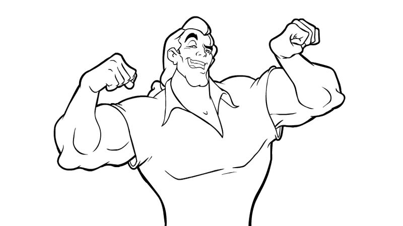 Gaston Coloring Pages Super Coloring Pages Coloring Pages Gaston