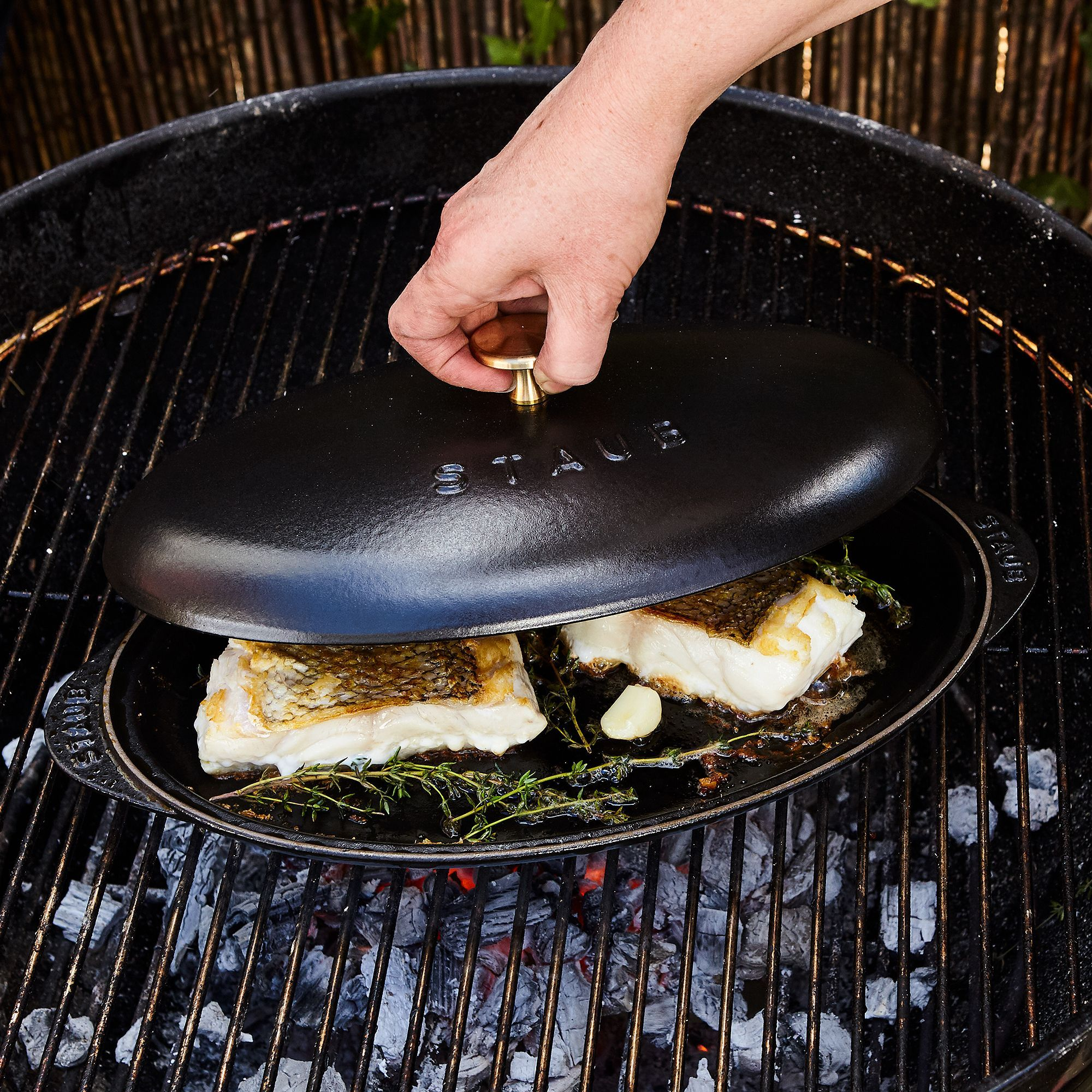 Staub Cast Iron Covered Fish Pan (With images) Staub