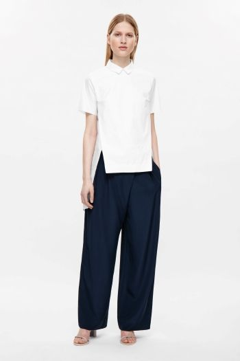 a4955af8e36 Shirt with front slits