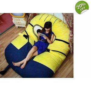Fine Despicable Me Huge Minion Bean Bag Bed Bean Bag Bed Inzonedesignstudio Interior Chair Design Inzonedesignstudiocom