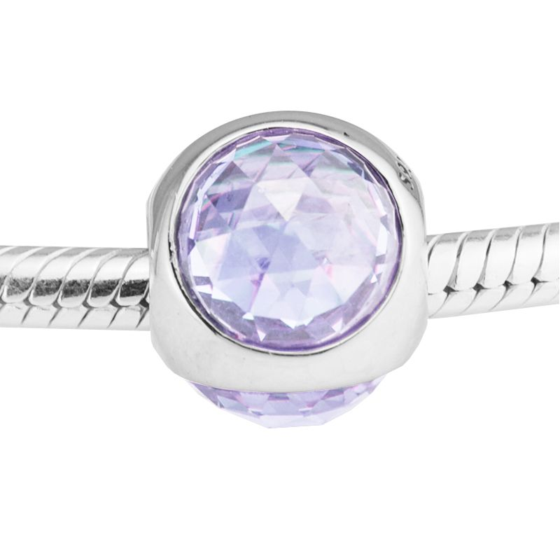 Radiant Droplet Charm, Clear Crystals 925 Sterling Silver Charms Fit Pandora & Other European Charm Bracelets