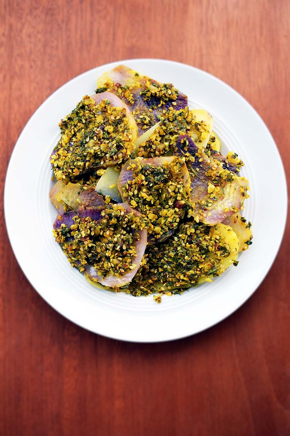 Spicy purple yam and potato is a unique recipe from gujarati cuisine spicy purple yam and potato is a unique recipe from gujarati cuisine ratalu puri is forumfinder Image collections