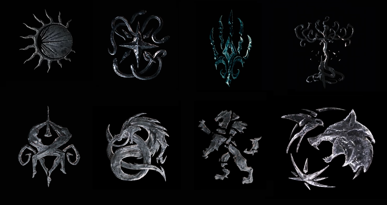 What are the different symbols in the Witcher TV series