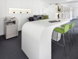 Besprechungstisch, Kopierer, Sitzgelegenheit, Hocker, Teppichboden, Büroaccessoires, Stauraum