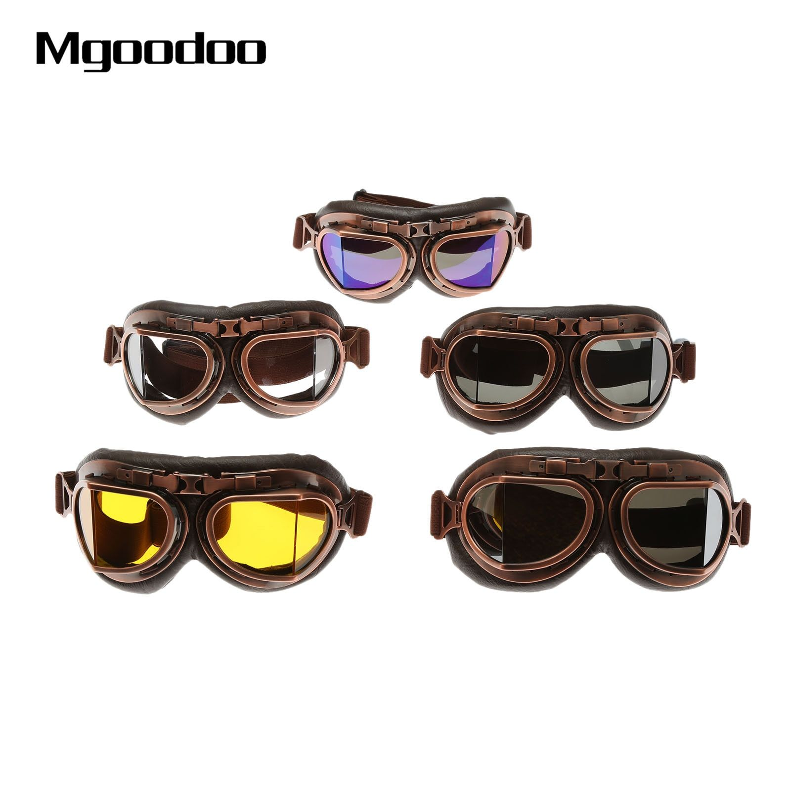 d8241607db Best Seller Motorcycle Goggles Glasses Vintage Motocross Eyewear Goggles  Retro Aviator Pilot Steampunk ATV Bike UV Protection Gear Glasses