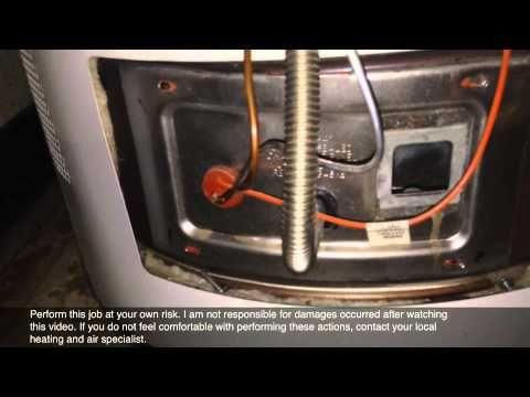 Water Heater Pilot Light Will Not Light Up Youtube Water