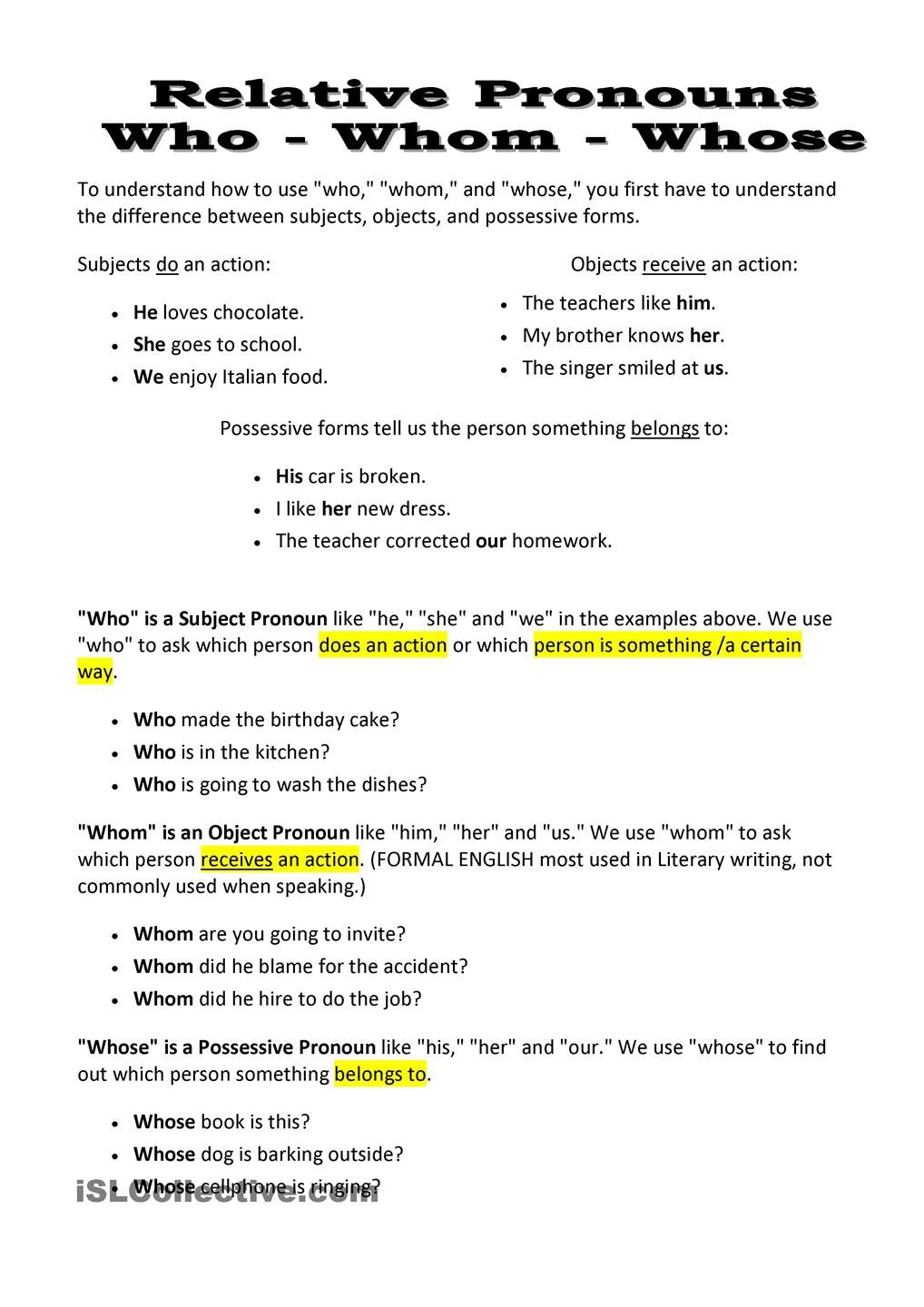 worksheet How Chocolate Is Made Worksheet pin by helenseasyenglish on teaching english pinterest relative pronouns who whom whose worksheet free esl printable worksheets made teachers