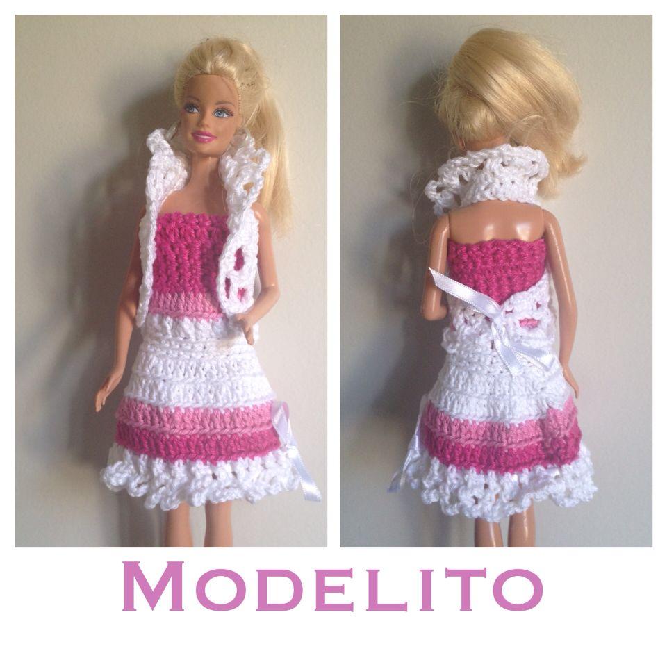Modelito vestido Croche Barbie