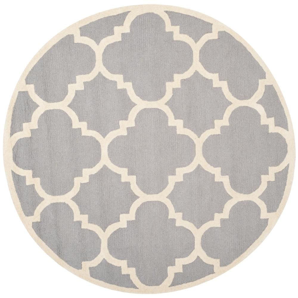 Safavieh Cambridge Silver Ivory 8 Ft X Round Area Rug