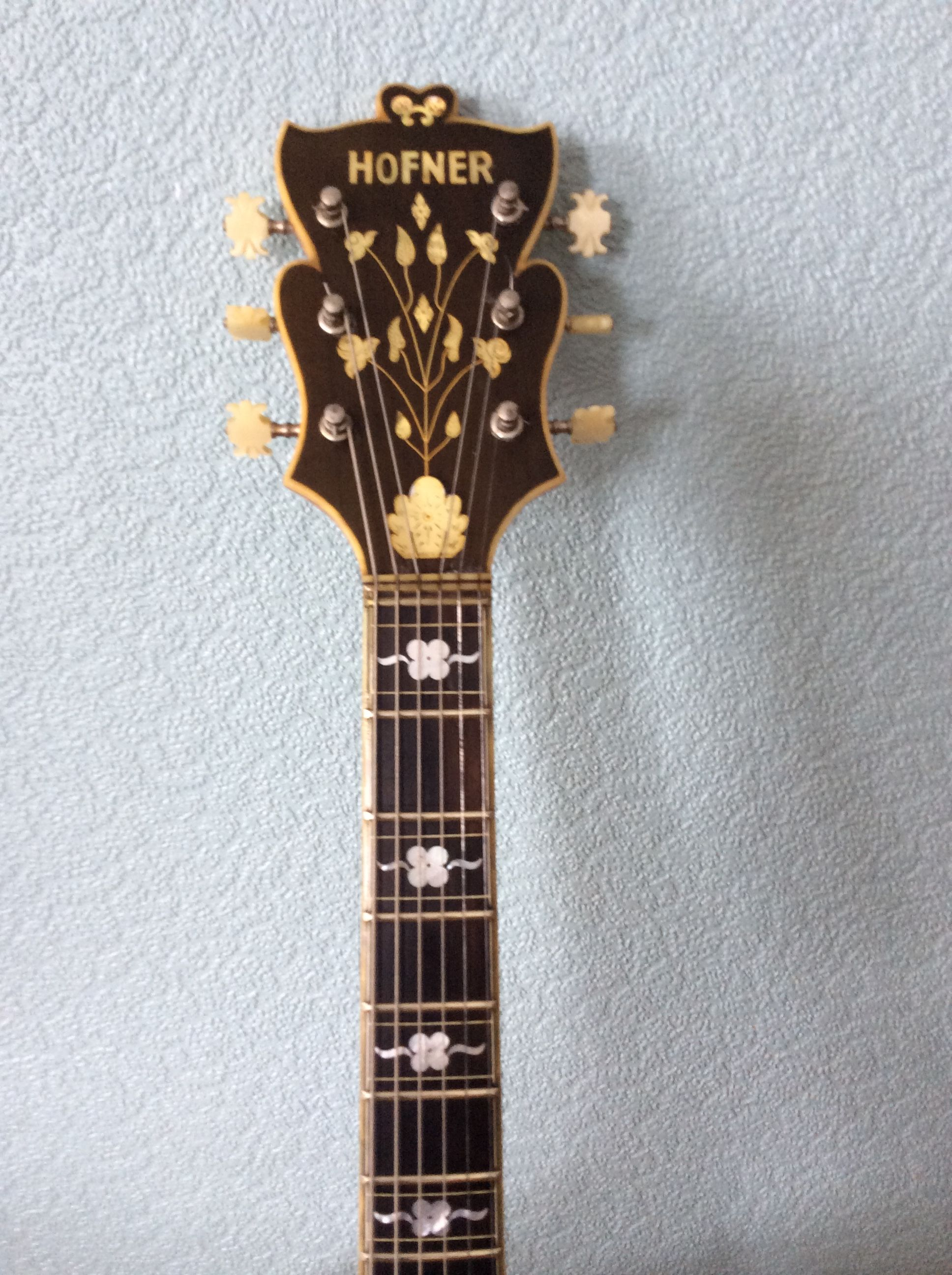 Frondose Headstock From 1959 Committee Mandolin Guitar Violin