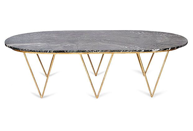 One Kings Lane Material Matters Isabelle Coffee Table Black