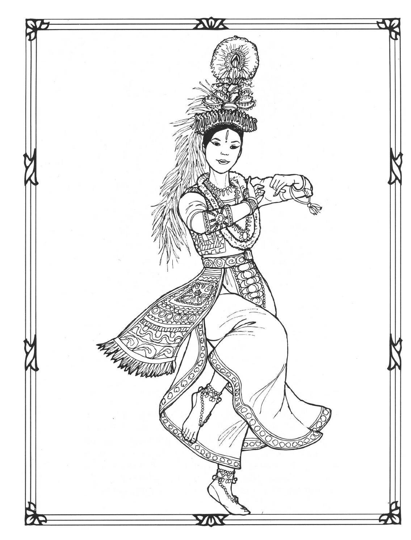 Dancers Coloring Book Costumes For Coloring Kleurplaten Tekenen