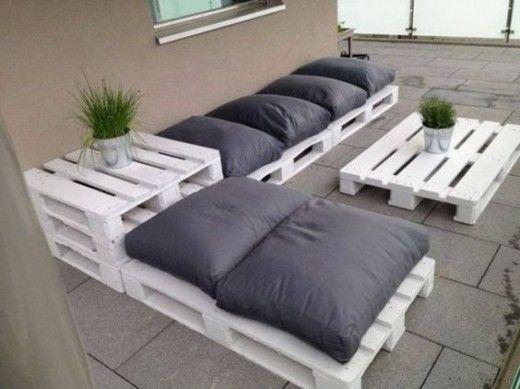 meuble balon palette de bois | decoration | Pallet Furniture, Garden ...