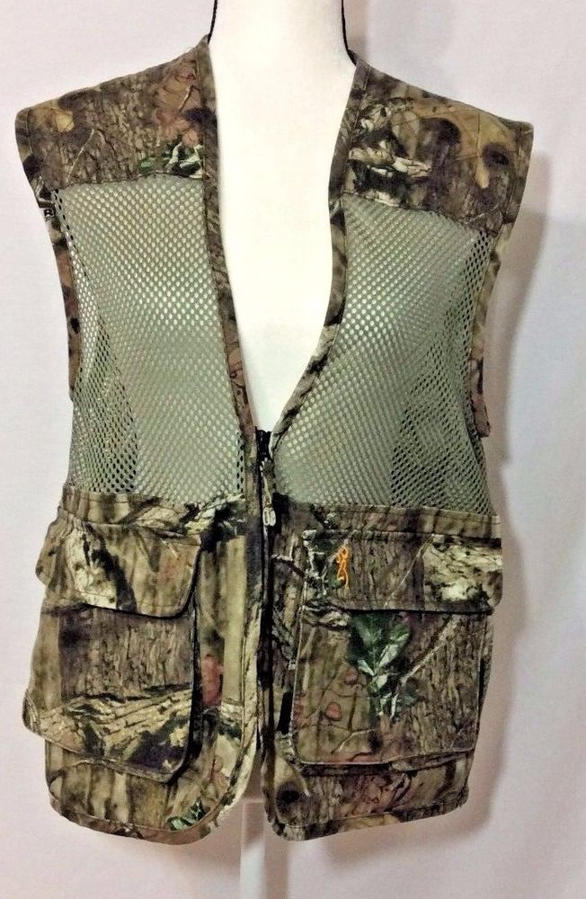 2c6a868f40d62 Browning Dove Hunting Vest Camo Mesh Realtree Size Small Lightweight  Pockets #Browning