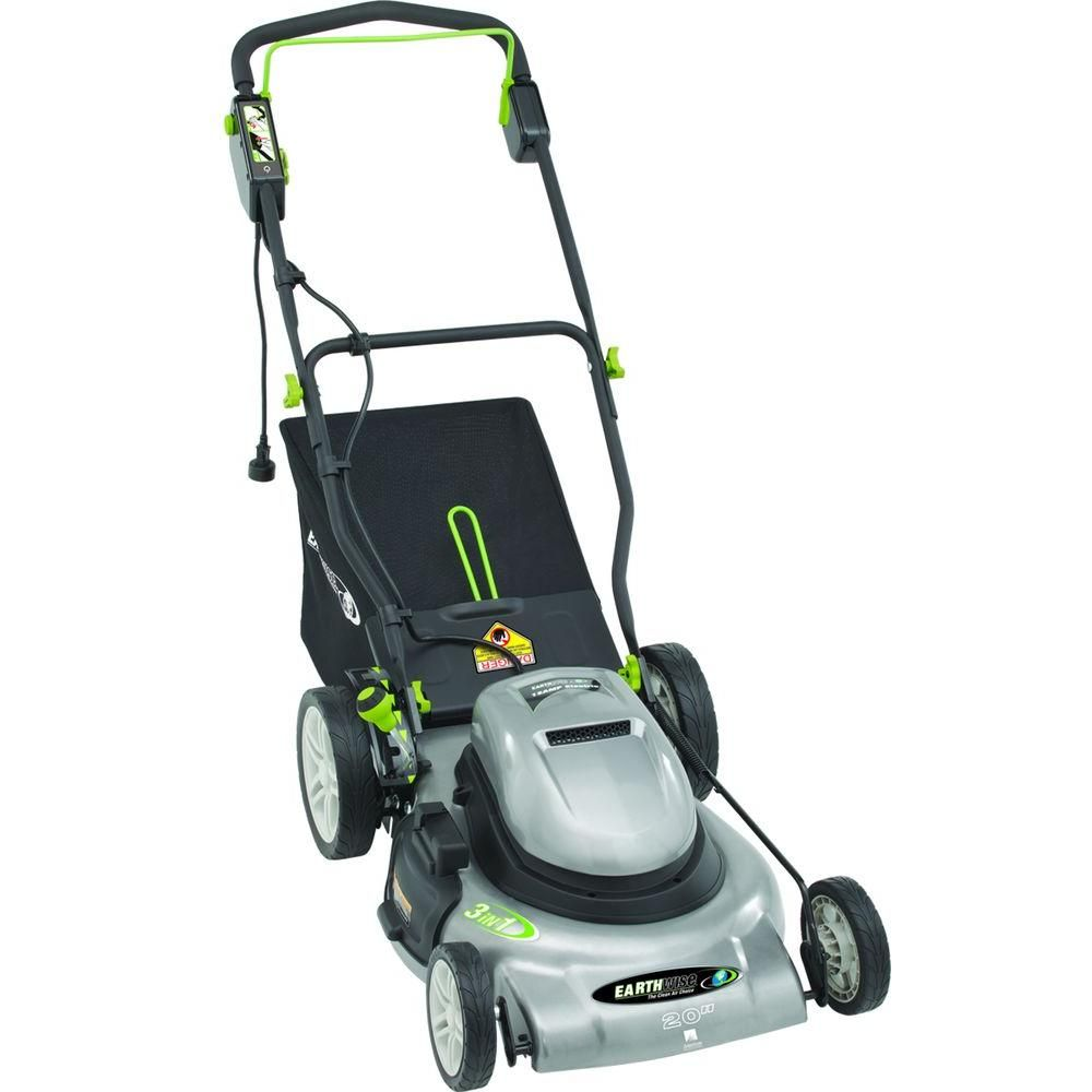 Earthwise 20 In Corded Electric Walk Behind Push Lawn Mower Push Lawn Mower Lawn Mower Cordless Mower
