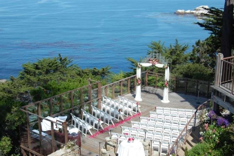 Ideas By Hyatt Carmel Highlands Mywedding Com Gazebo Decorations Altar Decorations Aisle Decor