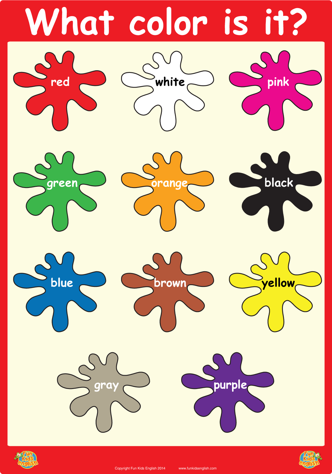 What Color Is It?\' Wall Poster | 교육 | Pinterest