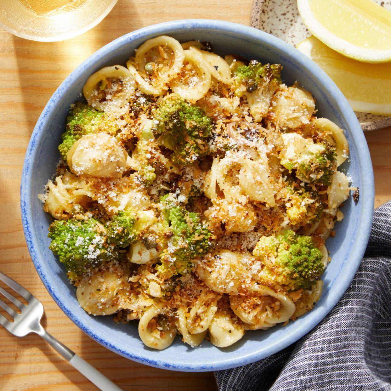 Roasted Cauliflower Orecchiette With Garlic Breadcrumbs Recipe