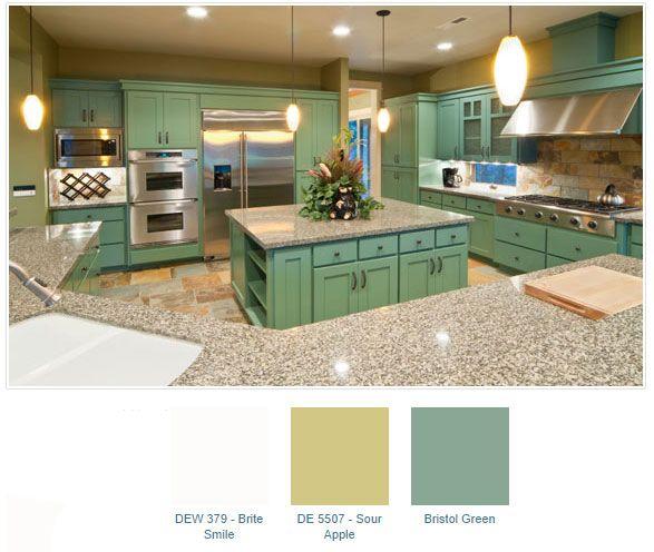 mint-and-sour-apple-kitchen   Best Green Paint Colors   Pinterest ...