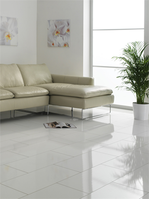 White Laminate Flooring 8mm Glossy Tiles. This company is