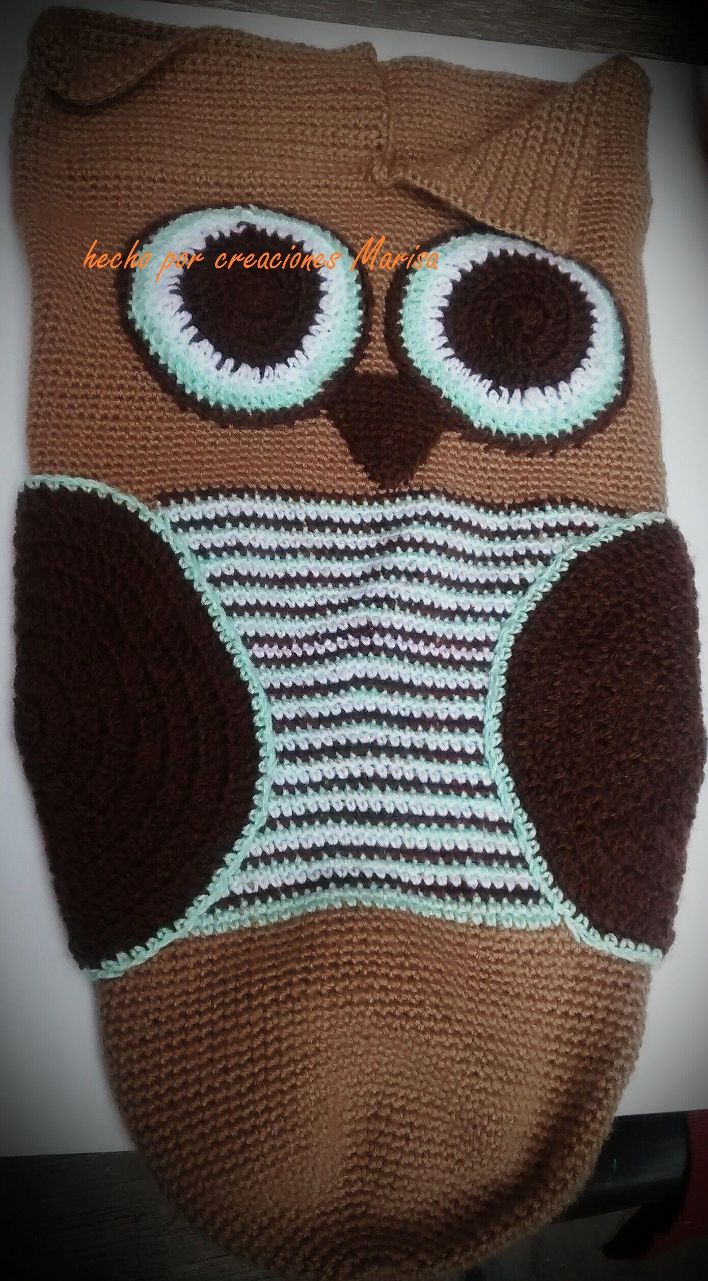 cocoon owl capullo de buho tejido en crochet | mis creaciones ...