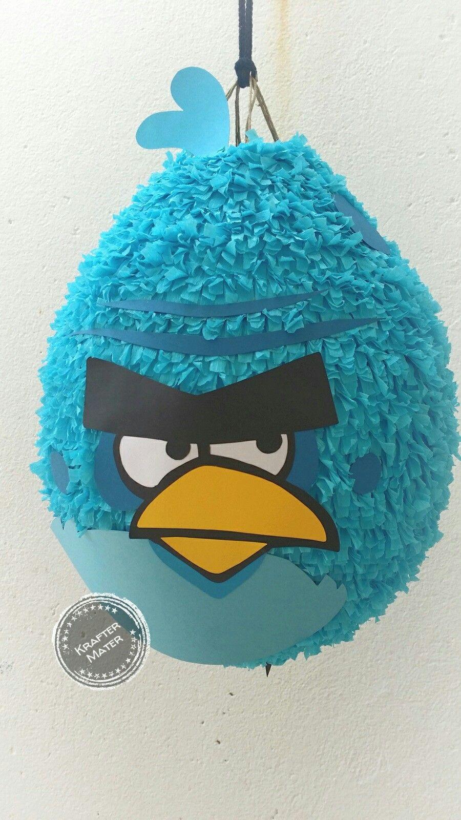 piñata angrybird blue birthday party Animal party