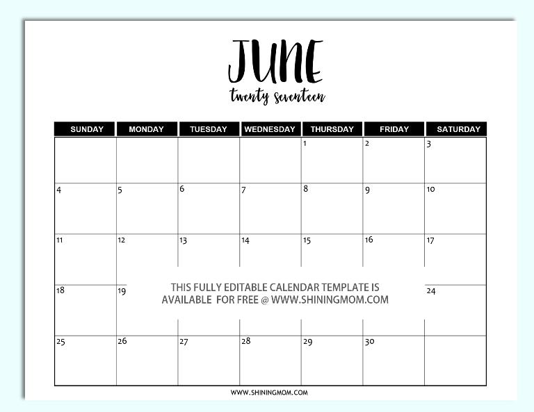 Free printable fully editable 2017 calendar templates in word free printable fully editable 2017 calendar templates in word format pronofoot35fo Images