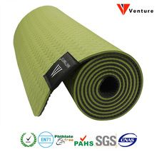 2016 venture 6mm tpe yoga mat antislip dubbele lagen met verstelbare riem gezond afvallen voor yoga(China (Mainland))