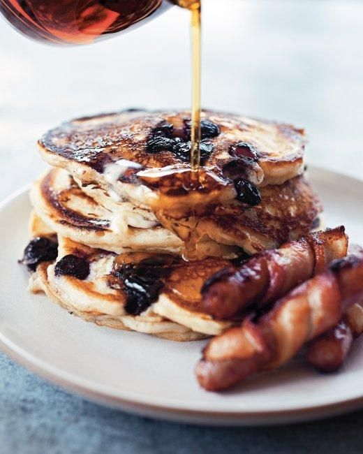 Blueberry Buttermilk Pancakes Recipe Buttermilk Pancakes Food Breakfast