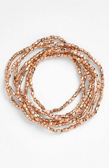 Nordstrom 'Layers of Love' Bead Stretch Bracelets (Set of 7) | Nordstrom