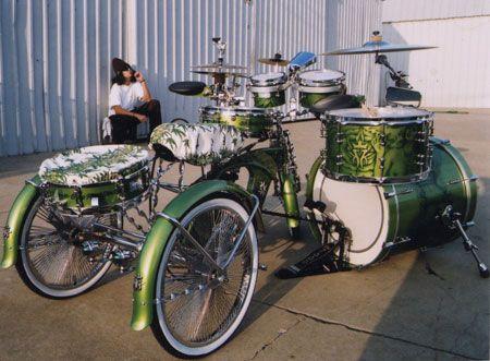 Lou Dog of KMK & his drum trike kit bad assness creation