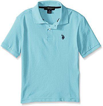 POLO ASSN U.S Boys Classic Short Sleeve Solid Pique Polo Shirt