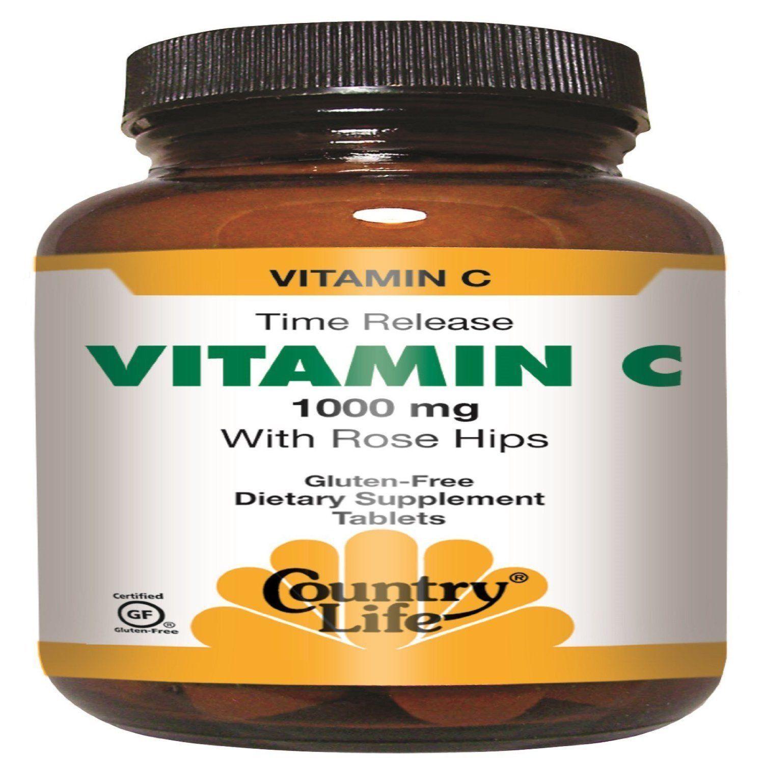 Country Life Vitamin C 1000 Rose Hips Time Release 250 Ct