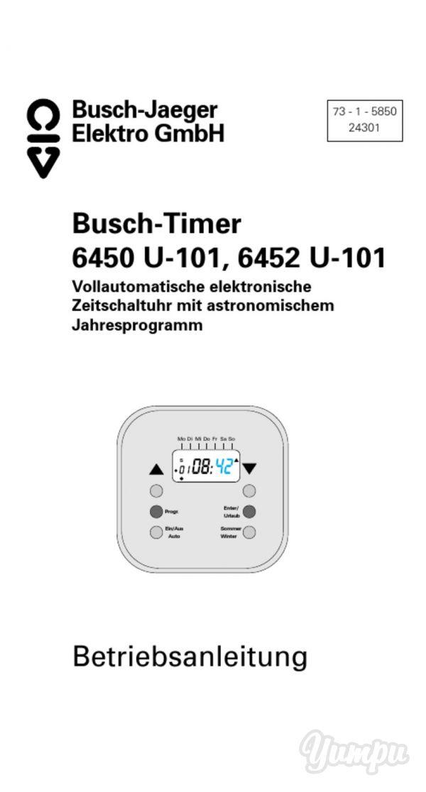 Busch-Timer 6450 U-101, 6452 U-101 Betriebsanleitung-Busch-Timer ...