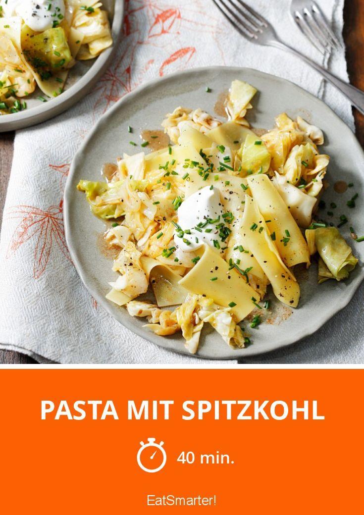 Pasta mit Spitzkohl